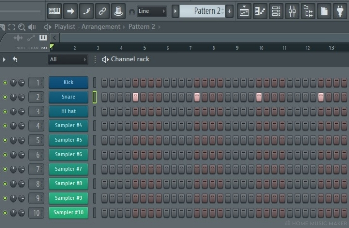 FL Studio pasted pattern