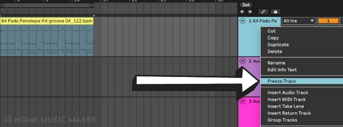 Freeze track in Ableton