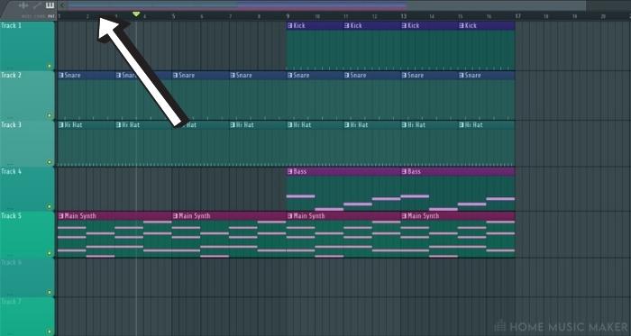 Locating the Bar Timeline in FL Studio