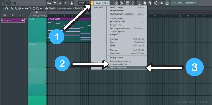 Rendering The Pattern As Audio In FL Studio