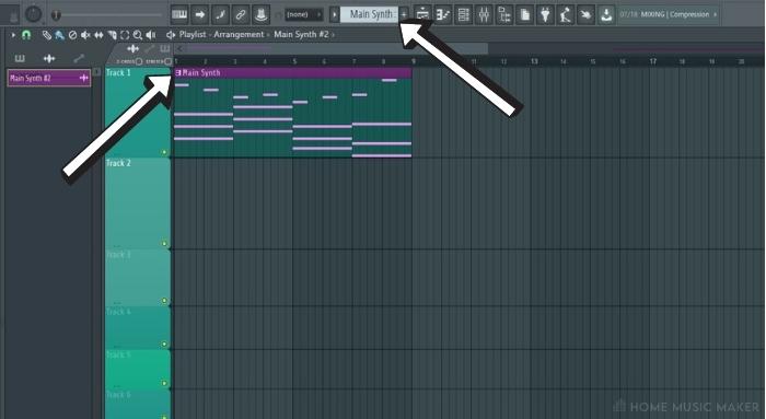 Saving Patterns In FL Studio Selecting The pattern