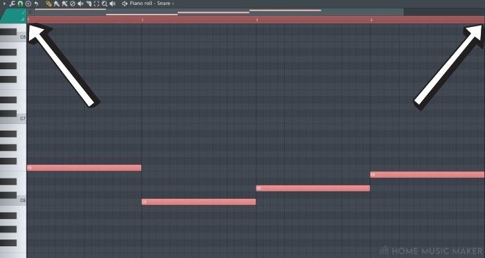 Selecting The Loop in FL Studio Piano Roll