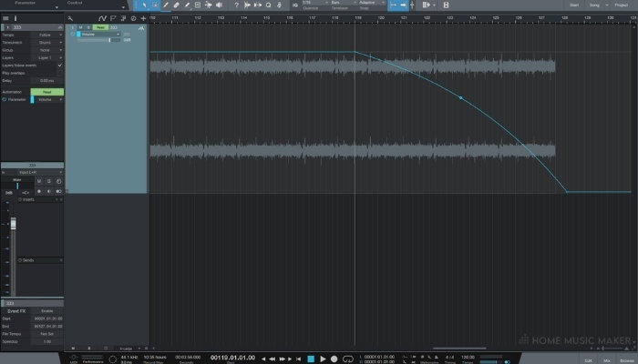 Studio One Automate The Volume Fader