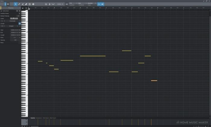 Studio One MIDI Editor