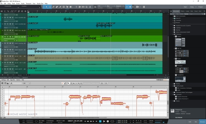 Studio One Melodyne Integration
