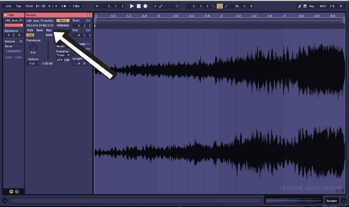 Warping The Sample In Ableton