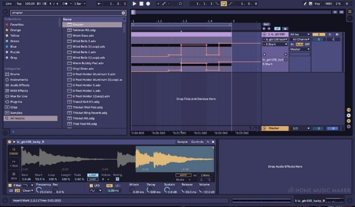 Creating automation clips to control specific parameters of your sampler