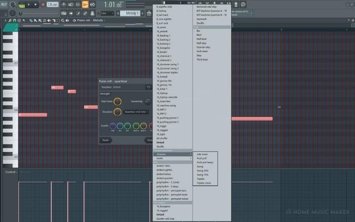 Quantizer Templates In FL Studio