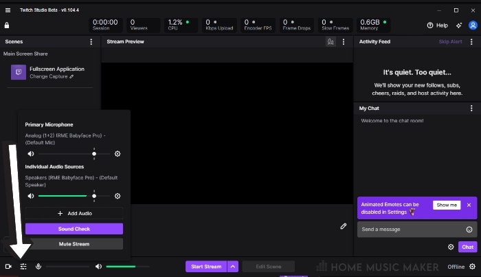 Setting up Twitch